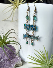 Load image into Gallery viewer, Go with the Flow - Vintage Carved Fish Earrings - Minxes' Trinkets
