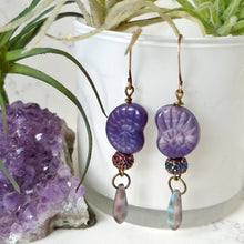 Load image into Gallery viewer, Purple Nautilus Earrings - Minxes' Trinkets