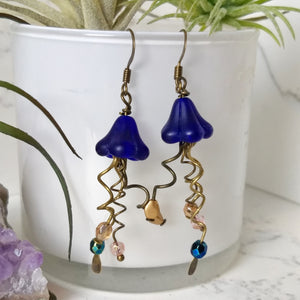 Jellyfish Earrings - Cobalt - Minxes' Trinkets