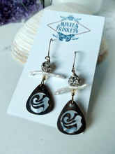 Load image into Gallery viewer, Inlay Earrings - Mermaid and Pearl - Minxes' Trinkets