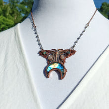Load image into Gallery viewer, Art Nouveau Butterfly Labradorite Moon and Sunstone - Minxes' Trinkets