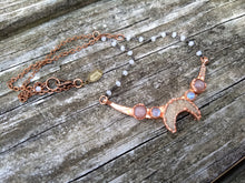 Load image into Gallery viewer, Druzy Moon Choker - with Sunstone and Moonstone - Minxes' Trinkets