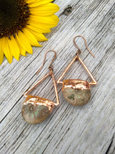 Load image into Gallery viewer, Pearlized Ammonite Electroformed Earrings - Minxes' Trinkets