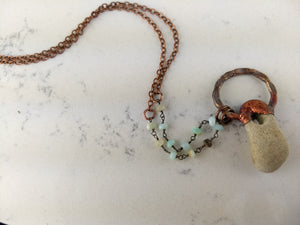 Copper Electroformed Hagstone Necklace - Minxes' Trinkets