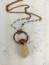 Load image into Gallery viewer, Copper Electroformed Hagstone Necklace - Minxes' Trinkets