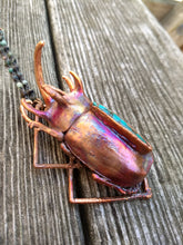 Load image into Gallery viewer, Electroformed Giant Beetle with Turquoise - Minxes' Trinkets