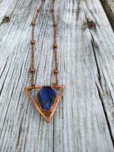 Load image into Gallery viewer, Electroformed Labradorite Coffin Choker Necklace - Minxes' Trinkets