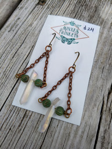 Aura Quartz Point Earrings - Minxes' Trinkets