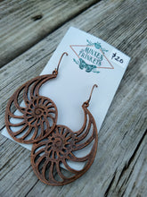 Load image into Gallery viewer, Copper Nautilus Earrings - Minxes' Trinkets