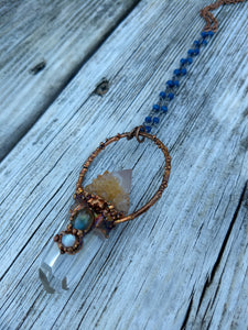 Electroformed Spirit Quartz Amulet Necklace - Minxes' Trinkets