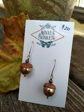 Load image into Gallery viewer, Swarovski pearl acorn earrings - champagne - Minxes' Trinkets