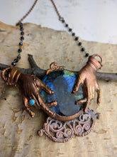 Load image into Gallery viewer, Fortune Teller Labradorite Crystal Ball Necklace - Minxes' Trinkets