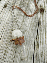 Load image into Gallery viewer, Electroformed Quartz Skull and Ckear Quartz Point - Minxes' Trinkets