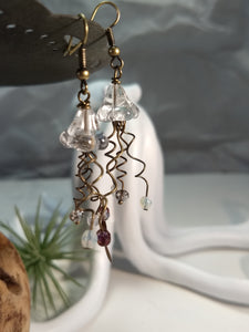 Jellyfish Earrings - Clear - Minxes' Trinkets