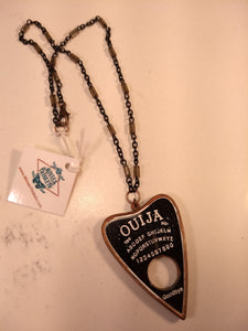 Copper Electroformed Ouija Planchette Necklace - Minxes' Trinkets