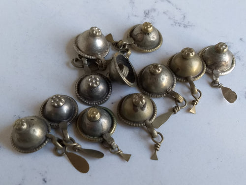 Kuchi Buttons - domed nipple with dangles (11) - Minxes' Trinkets