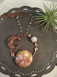 """Mars"" - Planetary Orbit Necklace - Minxes' Trinkets"