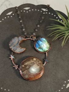 """Jupiter"" - Planetary Orbit Necklace - Minxes' Trinkets"