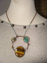 "Load image into Gallery viewer, ""Saturn"" - Planetary Orbit Necklace - Minxes' Trinkets"