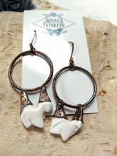 Load image into Gallery viewer, Electroformed Coyote Teeth Statement Earrings - Minxes' Trinkets