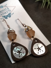 Load image into Gallery viewer, Handcrafted Mother-of-Pearl Inlay Earrings - Sand Dollar - Minxes' Trinkets
