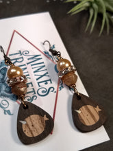 Load image into Gallery viewer, Handcrafted Inlay Earrings - Narwhal - Minxes' Trinkets