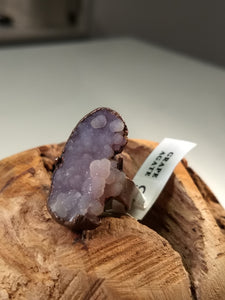 Copper Electroformed Grape Agate Ring - Size 8 - Minxes' Trinkets
