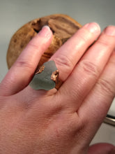 Load image into Gallery viewer, Chesapeake Bay Aqua Seaglass Ring - Copper Electroformed - Size 9.5 - Minxes' Trinkets
