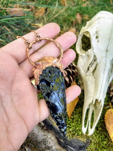 Athame Obsidian Blade Necklace
