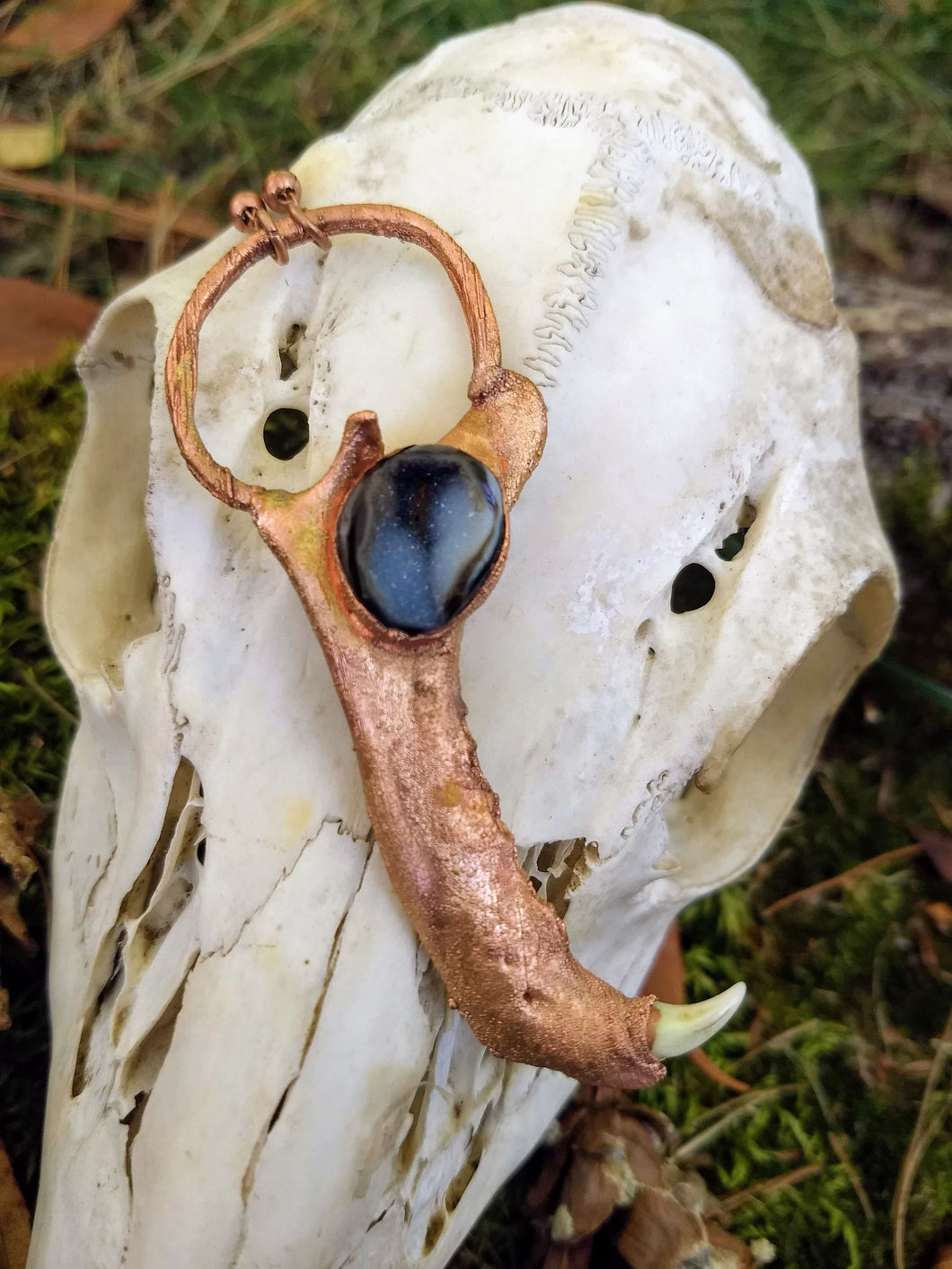 Electroformed Raccoon Jaw Necklace