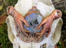 Load image into Gallery viewer, Electroformed Moonstone Fortune Teller Necklace - Minxes' Trinkets
