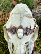 Load image into Gallery viewer, Electroformed Bat and Doll Face Necklace - Minxes' Trinkets