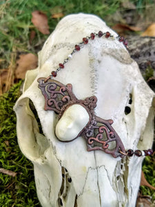 Electroformed Bat and Doll Face Necklace - Minxes' Trinkets