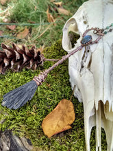 Load image into Gallery viewer, Copper Electroformed Witch Broom Besom with Labradorite