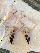 Load image into Gallery viewer, Copper Electroformed Palm Root Earrings - Minxes' Trinkets