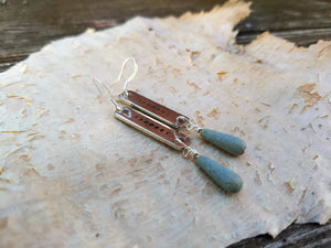 Moon Phase Earrings - Verdigris
