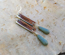 Load image into Gallery viewer, Moon Phase Earrings - Verdigris