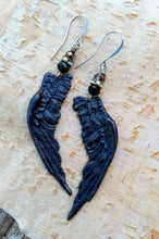 Load image into Gallery viewer, Black Wing Augury Earrings II