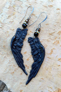 Black Wing Augury Earrings II