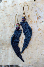 Load image into Gallery viewer, Black Wing Augury Earrings - Minxes' Trinkets