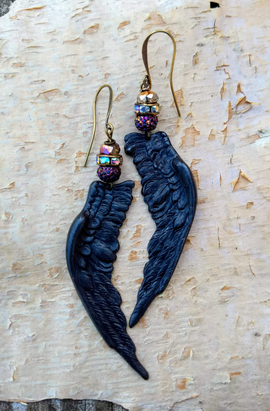Black Wing Augury Earrings - Minxes' Trinkets