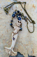 Load image into Gallery viewer, Skeleton Mermaid Necklace - Nocturnal - Minxes' Trinkets
