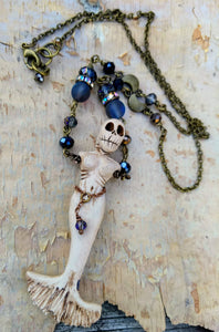 Skeleton Mermaid Necklace - Nocturnal - Minxes' Trinkets