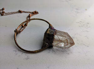 Electroformed Rutilated Quartz Necklace - Minxes' Trinkets