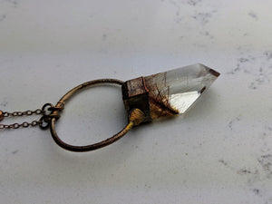 Electroformed Rutilated Quartz Necklace IV - Minxes' Trinkets