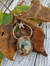 Load image into Gallery viewer, Electroformed Garden Quartz Lodolite Necklace - Mossy Bank - Minxes' Trinkets