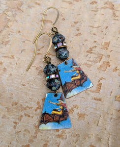 Handmade Vintage Halloween Earrings - Witches - Minxes' Trinkets