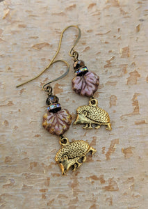 Hedgehog earrings - Thicket - Minxes' Trinkets