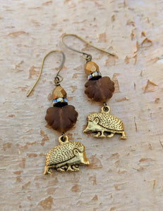 Hedgehog earrings - Copse - Minxes' Trinkets