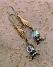 Load image into Gallery viewer, Fortune Teller Crystal Ball Earrings - Future is Clear